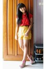 Doota-shorts-stradivarius-wedges-queenbee-shop-top