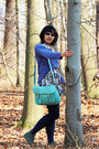 Dark-green-soho-zoo-boots-ivory-batik-tailor-made-dress-violet-diy-sweater