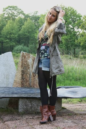 Primark coat - H&M shorts - Primark top - H&M boots