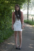 light blue H&M dress - coral H&M blazer
