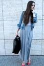 Denim-jacket-maxi-skirt-heels