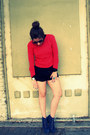 Navy-jeffrey-campbell-boots-red-forever-21-sweater-black-fletcher-shorts