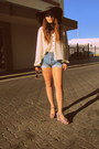 Red-urban-outfitters-wedges-sky-blue-vintage-levis-shorts