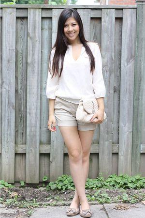 Zara blouse - Zara shorts - random - Zara shoes