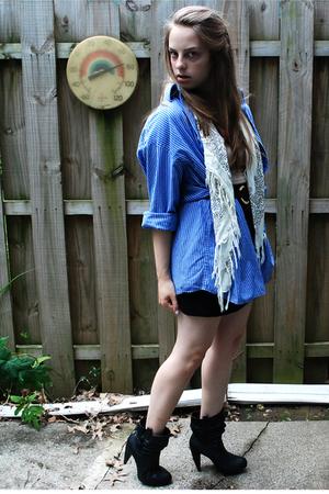 shirt - forever 21 scarf - skirt - forever 21 boots