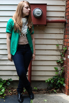 Gap sweater - forever 21 scarf - Cheap Monday jeans - flea market find shoes
