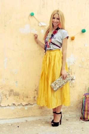 vintage skirt - Sweetcase bag - Zara sandals