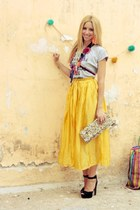vintage skirt - Sweetcase bag - Zara sandals