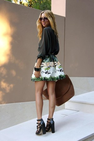 Alexander Wang sandals - American Apparel shirt - Primark skirt