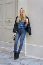 Zara boots - H&M jeans