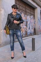 Maje jumper - Bershka jeans - H&M jacket - 31 Phillip Lim bag - Zara heels