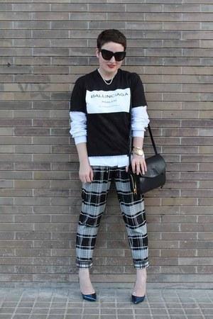COI t-shirt - COS shirt - Alexander Wang bag - Roger Vivier heels - asos pants