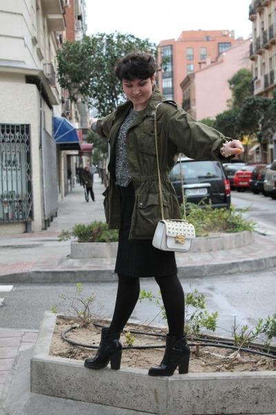 H&M jumper - Zara boots - Hearts and Bows jacket - Michael Kors bag