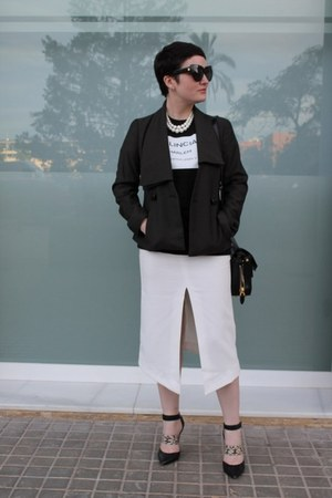asos skirt - Del Pozo blazer - COI t-shirt - Sigerson Morrison heels