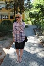 Alexander Wang heels - Zara shirt - Salvatore Ferragamo sunglasses - Oasis skirt