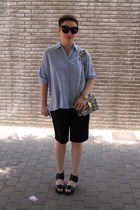 Zara shirt - Angel Jackson bag - Zara shorts - & other stories sandals