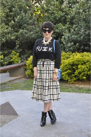 asos skirt - Zara boots - Mango coat - asos bag - Sheinside sweatshirt