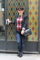 Zara jeans - Zara blazer - Zara bag - asos jumper - f-troupe flats