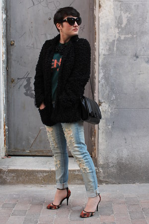 Mango jeans - River Island coat - Zara bag - Kenzo jumper - Zara heels