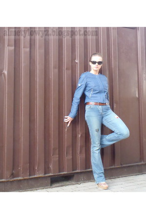 blue Terranova jeans - blue Ochnik jacket - black Ray Ban sunglasses