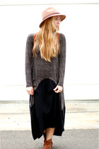 black knit Ronen Chen dress