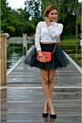 Black-blisstulle-skirt-white-h-m-top