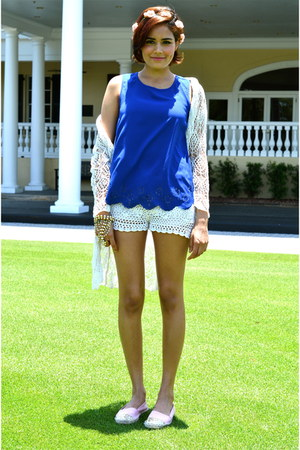 eggshell Forever 21 shorts - blue Darling Clothes top