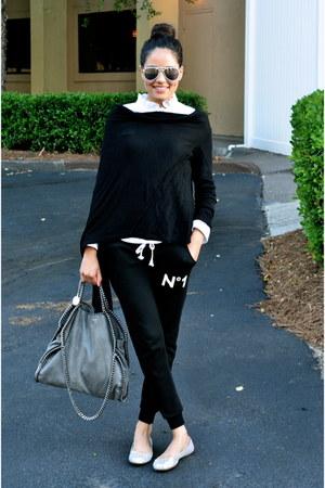 black cardigan wrap ted baker cardigan - white Zara shirt