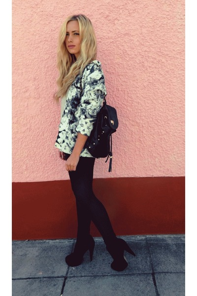 print Topshop blazer - black backpack Topshop bag