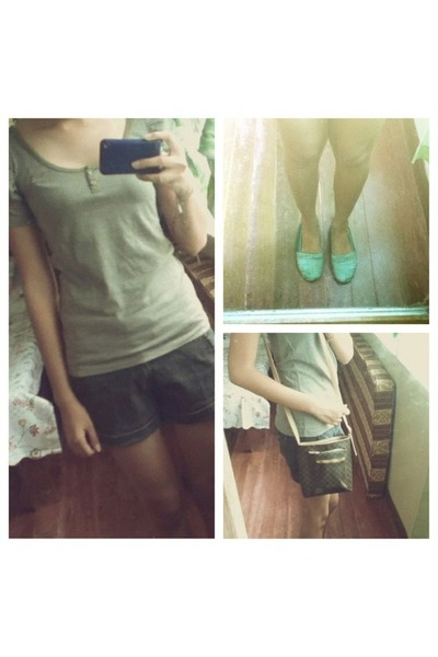 Penshoppe blouse - Kimbel bag - Penshoppe shorts