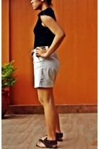 Herbench shirt - ann taylor shorts - Pill shoes - Debenhams belt - Anne Klein