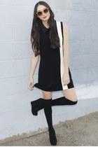 black Alyssa Nicole dress - black knee high socks asos socks