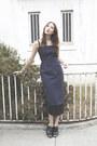 Navy-alyssa-nicole-dress-black-mules-saks-fifth-avenue-heels
