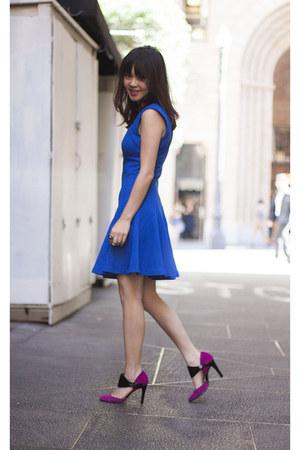 Pour La Victoire bag - French Connection dress - Nine West heels