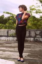 Target shoes - Topshop jeans - vintage blouse