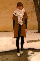 Urban Outfitters shoes - vintage dress - soft surroundings sweater - vintage sca