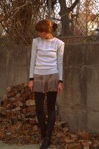Forever 21 dress - vintage sweater - vintage boots