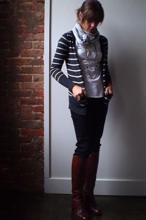 Gap scarf - Target sweater - Target jeans - Walmart shirt