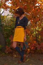 banana republic sweater - thrifted skirt
