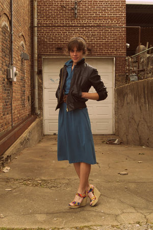 vintage dress - Ebay jacket - Cynthia Vincent for Target shoes