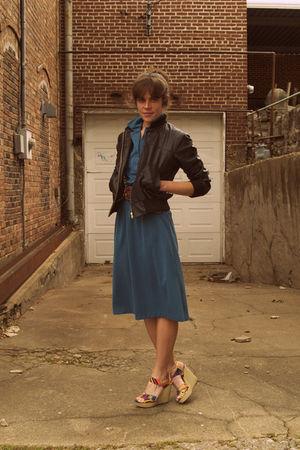 vintage dress - Ebay jacket - Cynthia Vincent for Target shoes