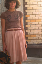 vintage bag - Handmade from Etsy shirt - vintage skirt