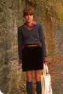 Banana-republic-sweater-vintage-blouse-vintage-skirt