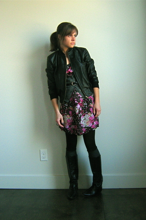 Ebay jacket - Target dress - Target cardigan - vintage from Ebay boots - thrifte