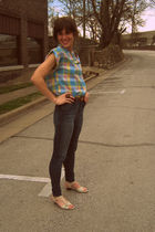 vintage blouse - BDG jeans - vintage shoes