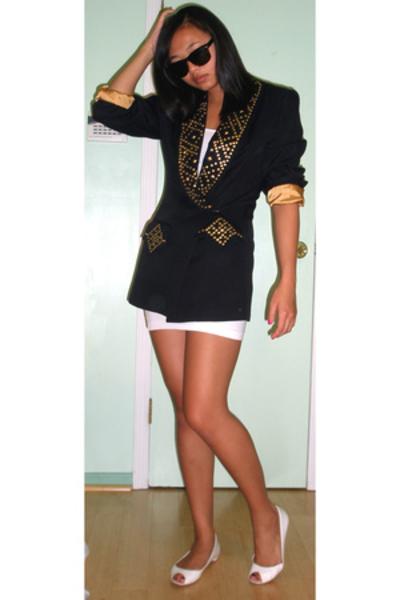 blazer - American Apparel dress - Nine West shoes