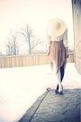 Beige-smartset-hat-beige-vintage-dress-white-ebay-tights-white-vintage-blo