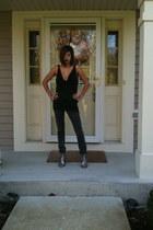black Arden B blouse - grey BCBG boots - jeans
