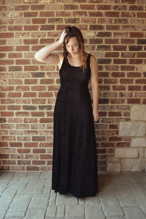 black burned velvet Black Milk Clothing dress