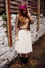 Black-lita-bullboxer-boots-gold-h-m-sweater-ivory-tulle-h-m-skirt